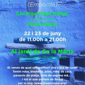 Flyer mercadillo Can Piqui Pugui en Vilamacolum cara A