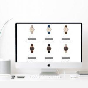 montaje Web en pantalla de iMac scroll
