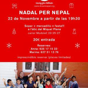 Flyer invitación Nadal per Nepal en casa de Miquel Plana