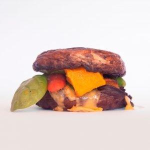 hamburguesa de seta portobello