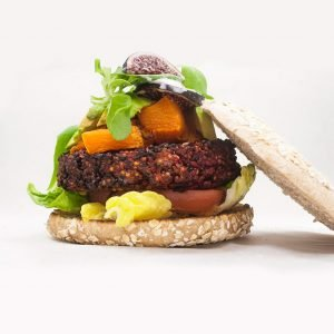 hamburguesa de quinoa y remolacha