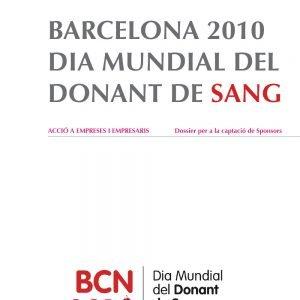 Portada Dosier Dia Mundial del donant de sang